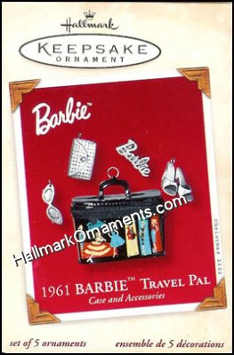 2002 1961 Barbie Travel Pal Case