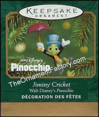 2001 Jiminy Cricket, Disney, Miniature