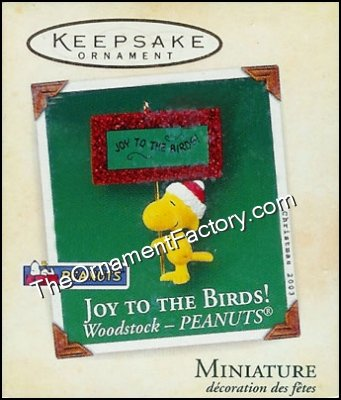 2003 Joy to the Birds, PEANUTS Miniature