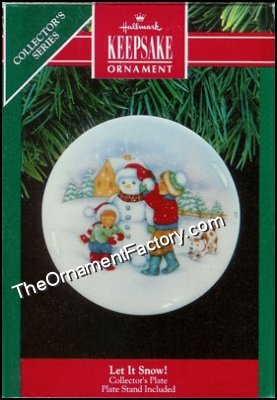 1991 Let It Snow, Collectors Plate #5