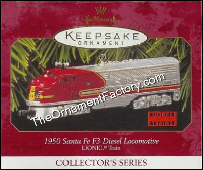 1997 Lionel #2 1950 Santa Fe F3 Diesel Locomotive, Lionel Trains DB