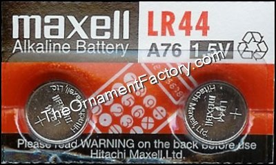 LR44 Alkaline Cell Batteries, 2 Pack