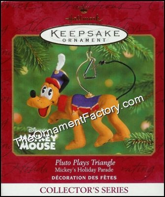 2001 Pluto Plays Triangle, Mickeys Holiday Parade #5