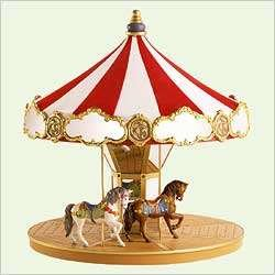 2004 Carousel Ride Display (with 2 horse ornaments)