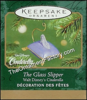 2001 Glass Slipper, Disneys Cinderella, Miniature