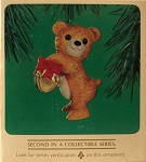 1984 Cinnamon Bear with Jingle Bell, Porcelain Bear #2