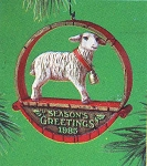 1985 Sheep at Christmas, Country Christmas Collection