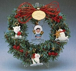 1990 Frosty Friends Memory Wreath and Ornaments (COMPLETE SET)