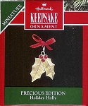 1992 Holiday Holly, Precious Editions, Miniature