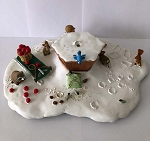 2000 Treasure Tree (Display Base w/ 18 Mini ornaments - No Tree)