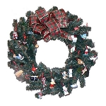 2001 15th Anniversary Celebration Wreath w/ 26 Mini Ornaments - RARE