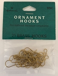 Miniature Brass Hooks - Pack of 25