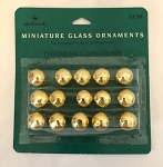 Miniature Glass Balls, Gold