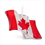 2019 Canadian Pride, Canadian Flag, Glass Ornament