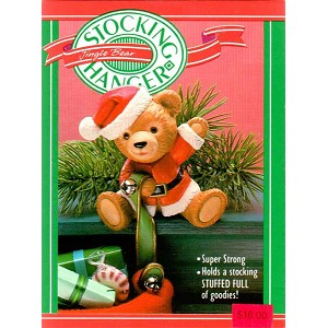 1988 Jingle Bear Stocking Hanger