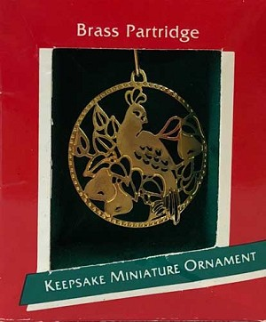 1989 Brass Partridge
