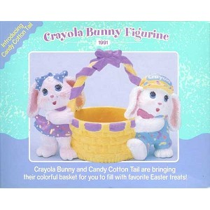 1991 Crayola Bunny and Candy Cotton Tail, Crayola Figurine