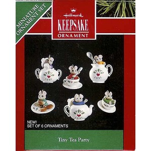 1991 Tiny Tea Party, Set of Six, Miniature