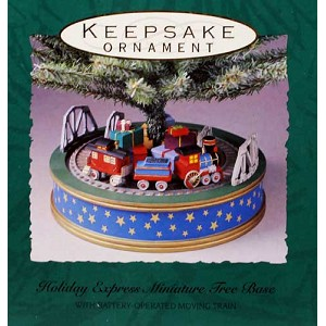 1993 Holiday Express Miniature Tree Base - Revolving Tree Base