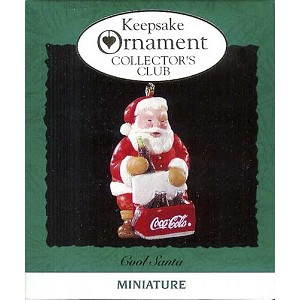 1993 Cool Santa, Coca-Cola, Club, Miniature