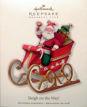 2010 Sleigh on the Way!, Club Ornament