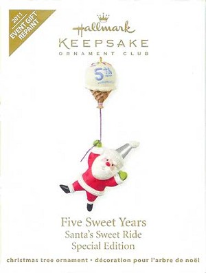 2011 Five Sweet Years, Santa's Sweet Ride, Colorway - DB