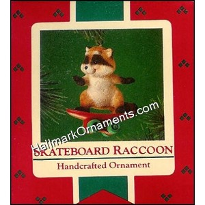 1985 Skateboard Raccoon
