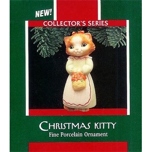 1989 Christmas Kitty - 1st  Kitten in White Dress