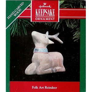 1991 Folk Art Reindeer