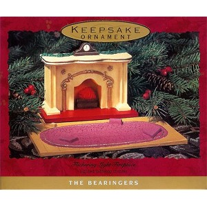 1993 Flickering Light Fireplace Base, Bearingers