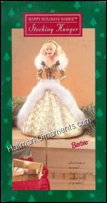1995 Happy Holidays Barbie - Stocking Hanger
