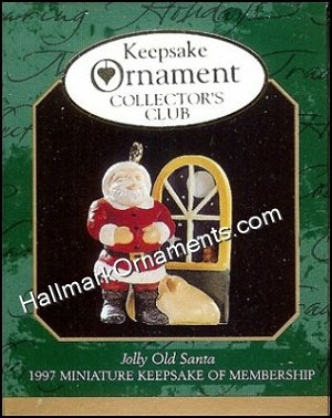 1997 Jolly Old Santa, Club Ornament, Miniature
