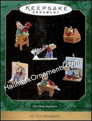 1997 Tiny Home Improvers, Set of 6 miniature ornaments