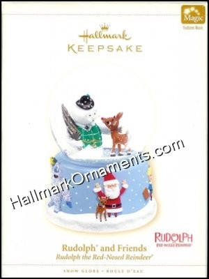2006 Rudolph and Friends Snow Globe, Rudolph the Red Nosed Reindeer