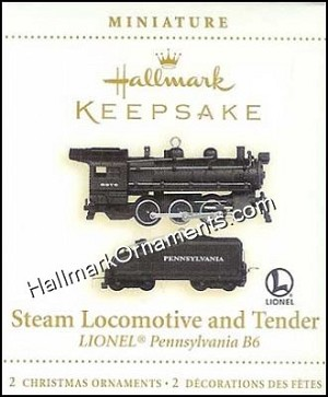 2006 Lionel Steam Locomotive and Tender, Miniature