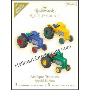 2007 Antique Tractors, Miniature, LIMITED QUANTITY