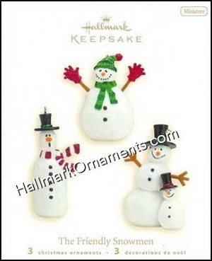 2008 The Friendly Snowmen, Set of 3, Miniature