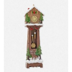 2014 Santa's Grandfather Clock, Club Ornament