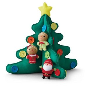 2015 Tabletop Plush Christmas Tree With Buttons