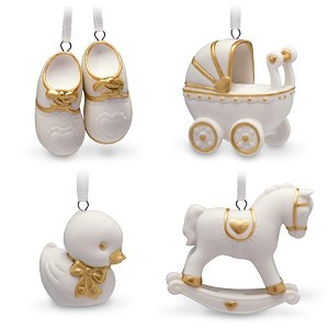 2018 Welcome Baby Ornament Set, Miniature