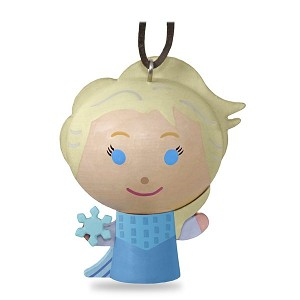 2018 Elsa Ornament, Wood