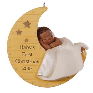 2019 Baby's First Christmas, Moon - Af-Am - PRE-ORDER NOW - SHIPS AFTER OCT 7