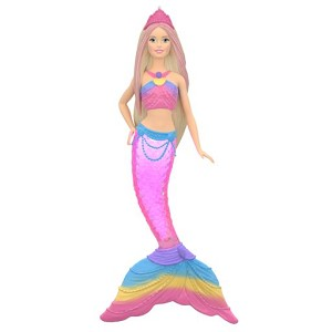 2019 Rainbow Lights Mermaid Barbie Ornament, Barbie, Magic