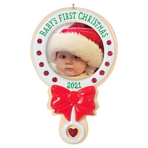 2021 Baby's First Christmas, Photo Holder - PRE ORDER NOW - SHIPS AFTER JULY 12