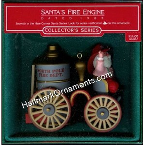 1985 Santa's Fire Engine, Here Comes Santa #7 - DB