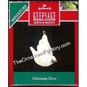 1990 Christmas Dove, Miniature