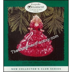 1996 Happy Holidays Barbie #1, Club Ornament