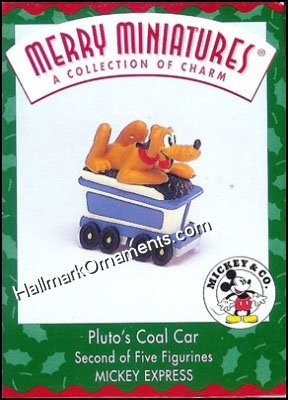 1998 Merry Miniatures - Pluto's Coal Car, Disney