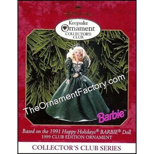 1999 Happy Holidays Barbie #4, Club Ornament