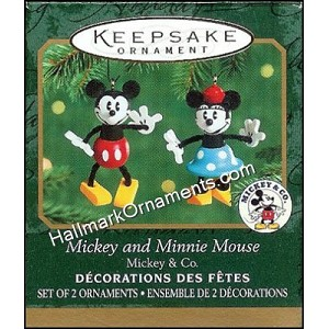 2000 Mickey and Minnie Mouse, Miniature